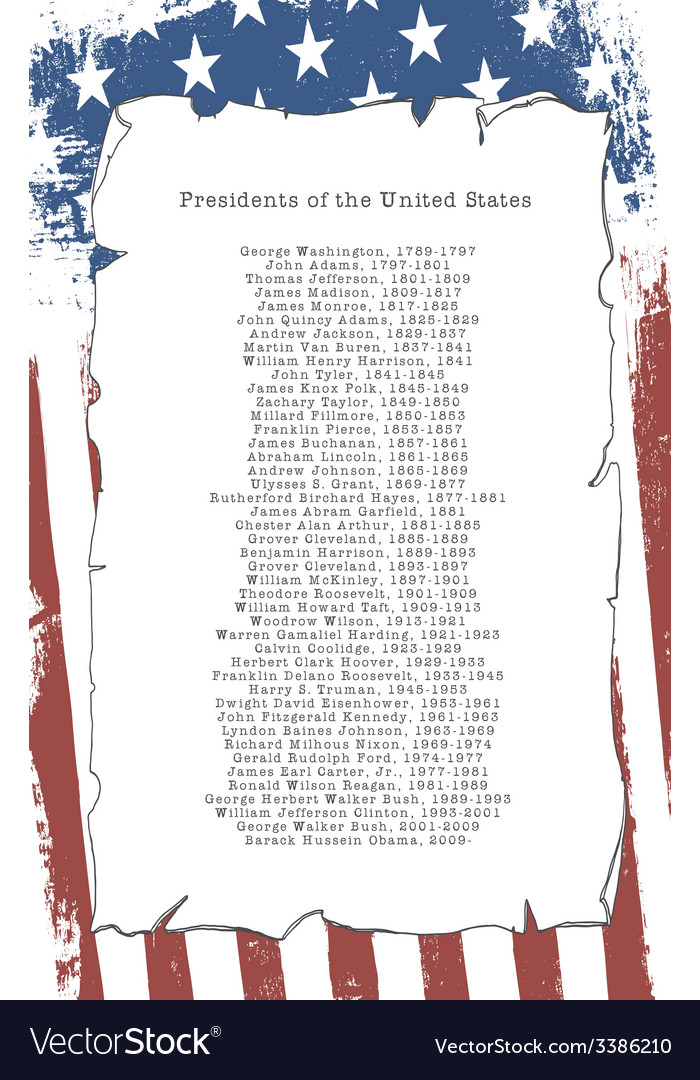 Presidents of the united states vector | Price: 1 Credit (USD $1)