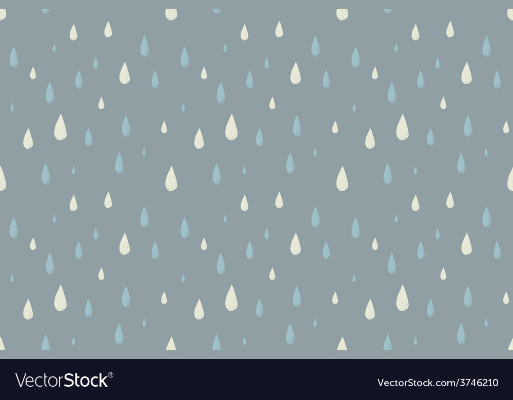 Rain seamless pattern foggy cold autumn day vector | Price: 1 Credit (USD $1)