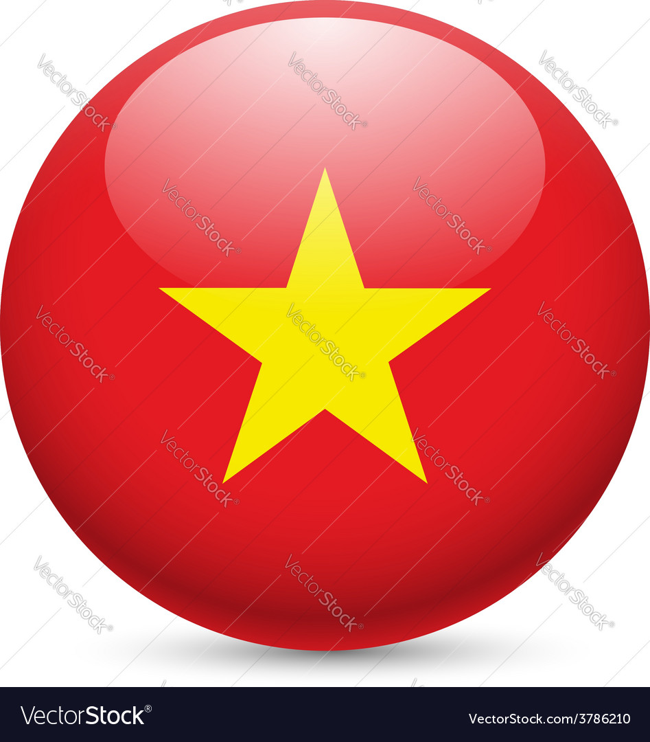 Round glossy icon of vietnam vector | Price: 1 Credit (USD $1)