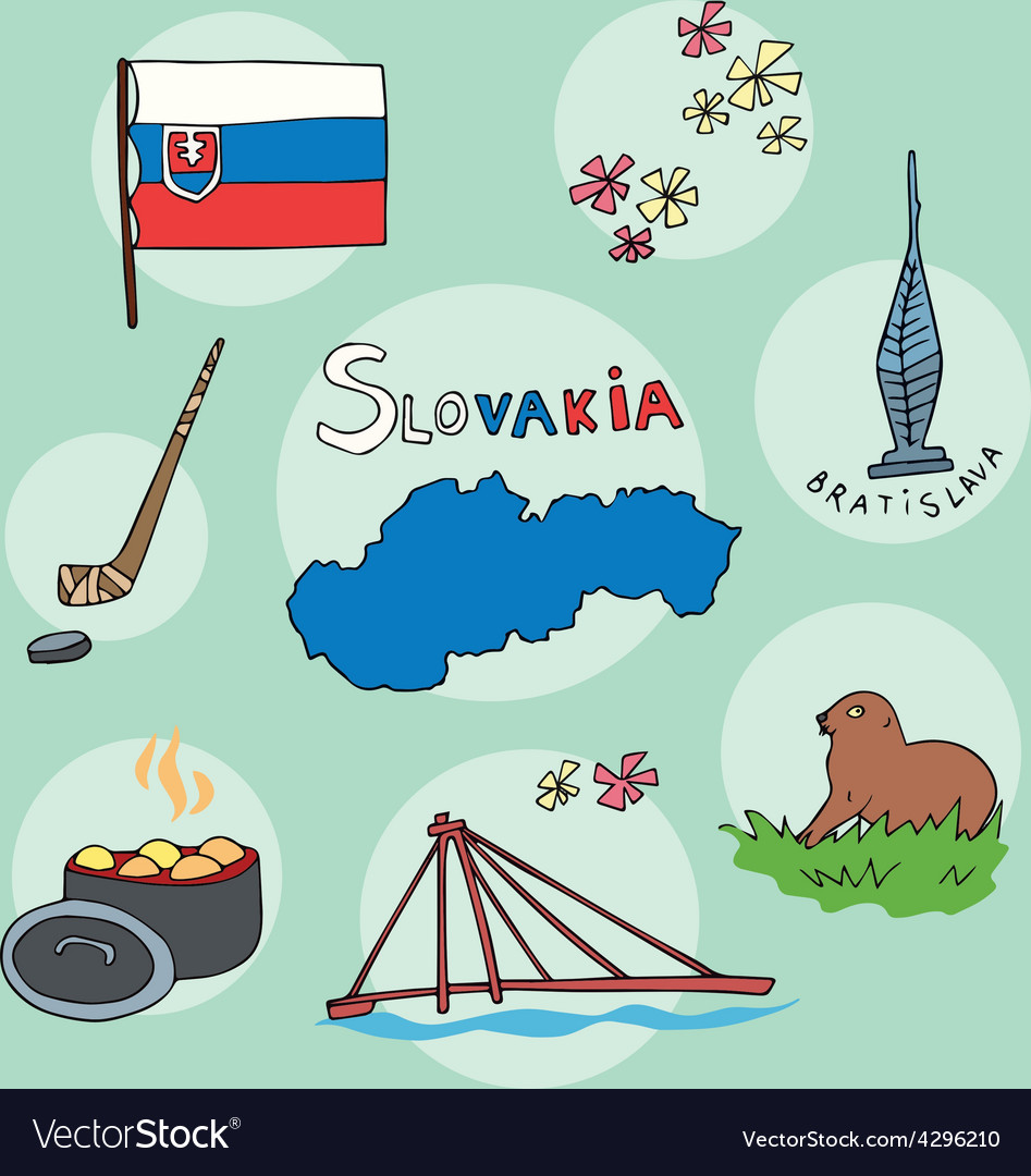 Set of national profile of the slovakia vector | Price: 1 Credit (USD $1)