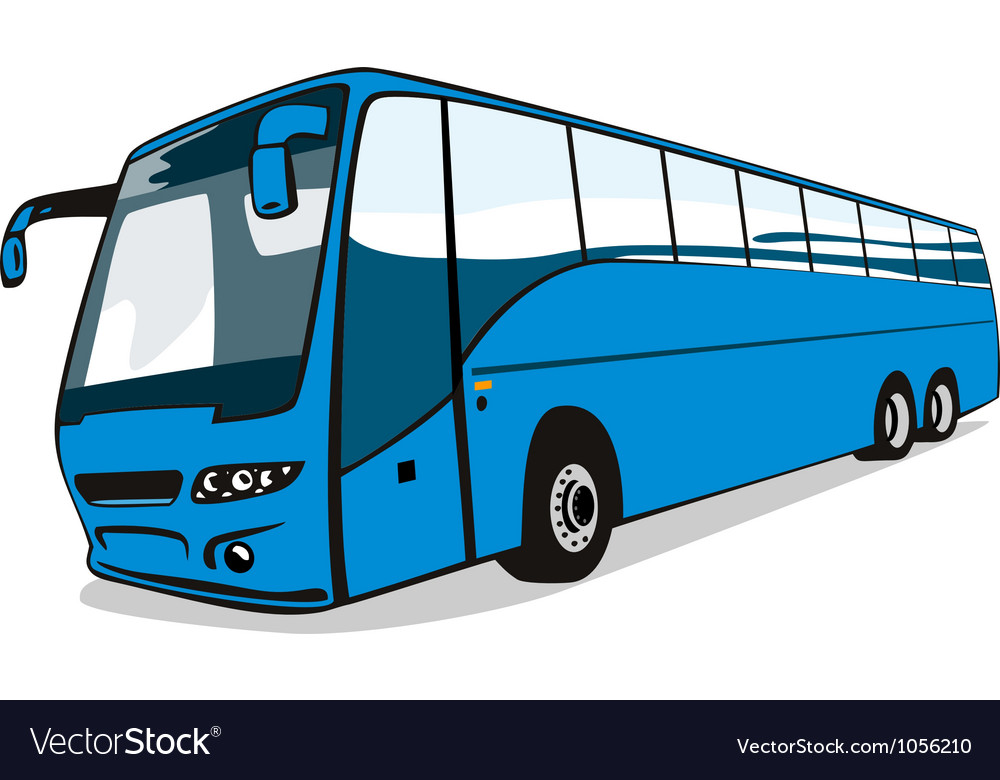 Shuttle coach bus retro vector | Price: 1 Credit (USD $1)