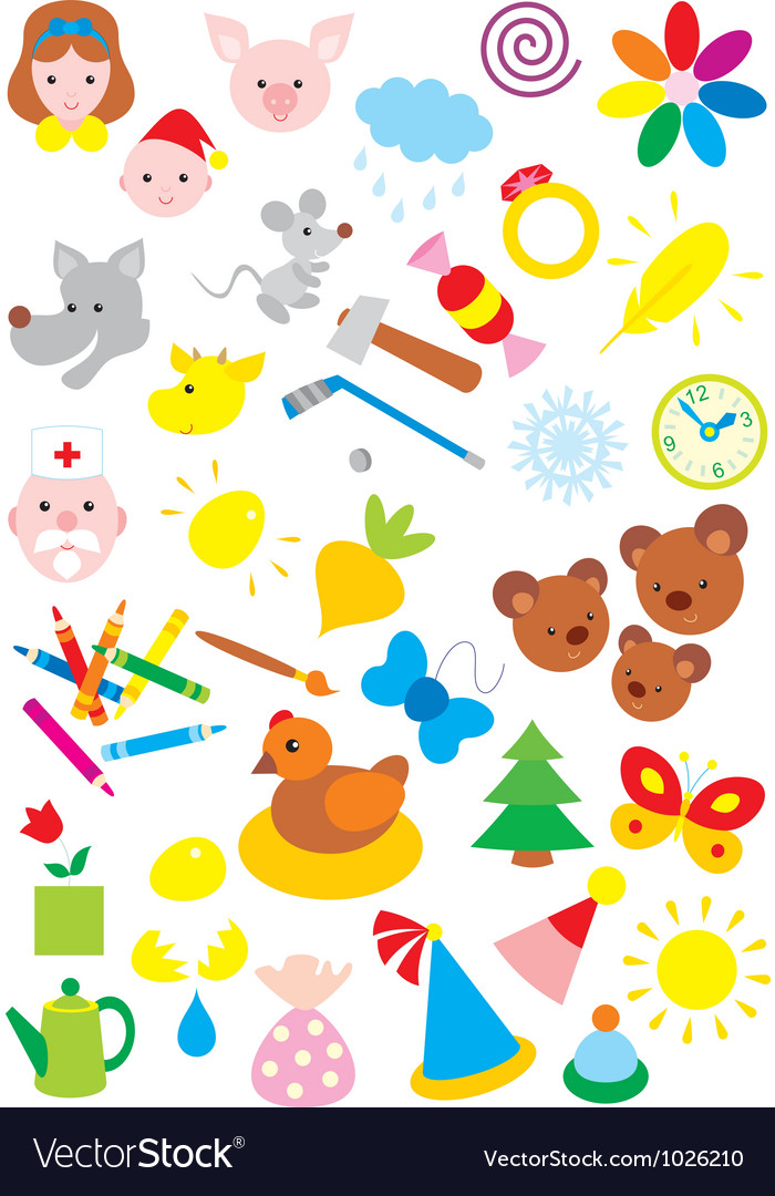 Simple objects for kindergarten vector | Price: 1 Credit (USD $1)