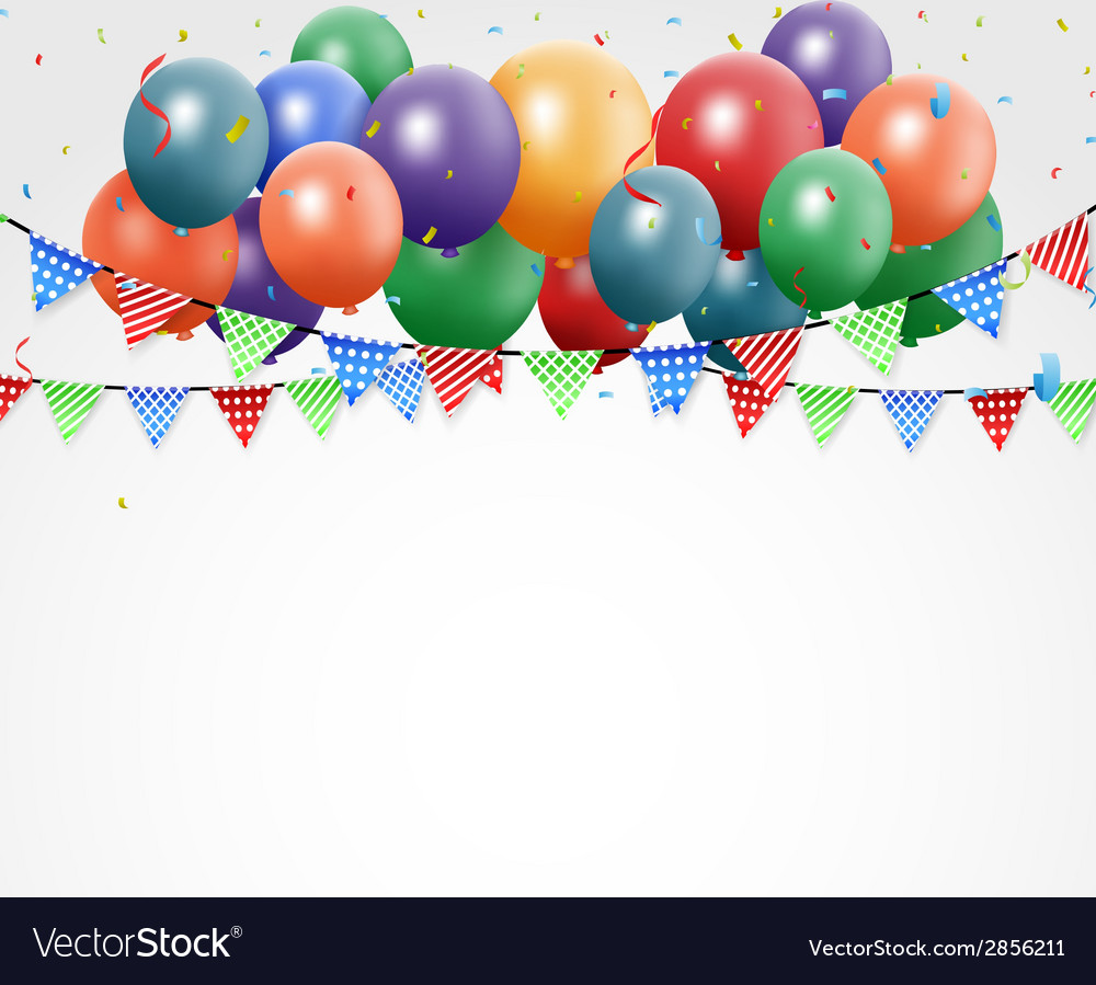 Colorful birthday balloons vector | Price: 1 Credit (USD $1)