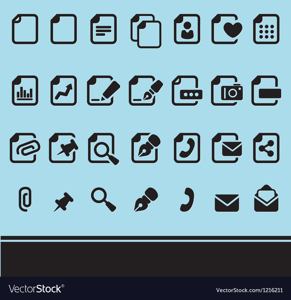 Files icon set vector | Price: 1 Credit (USD $1)