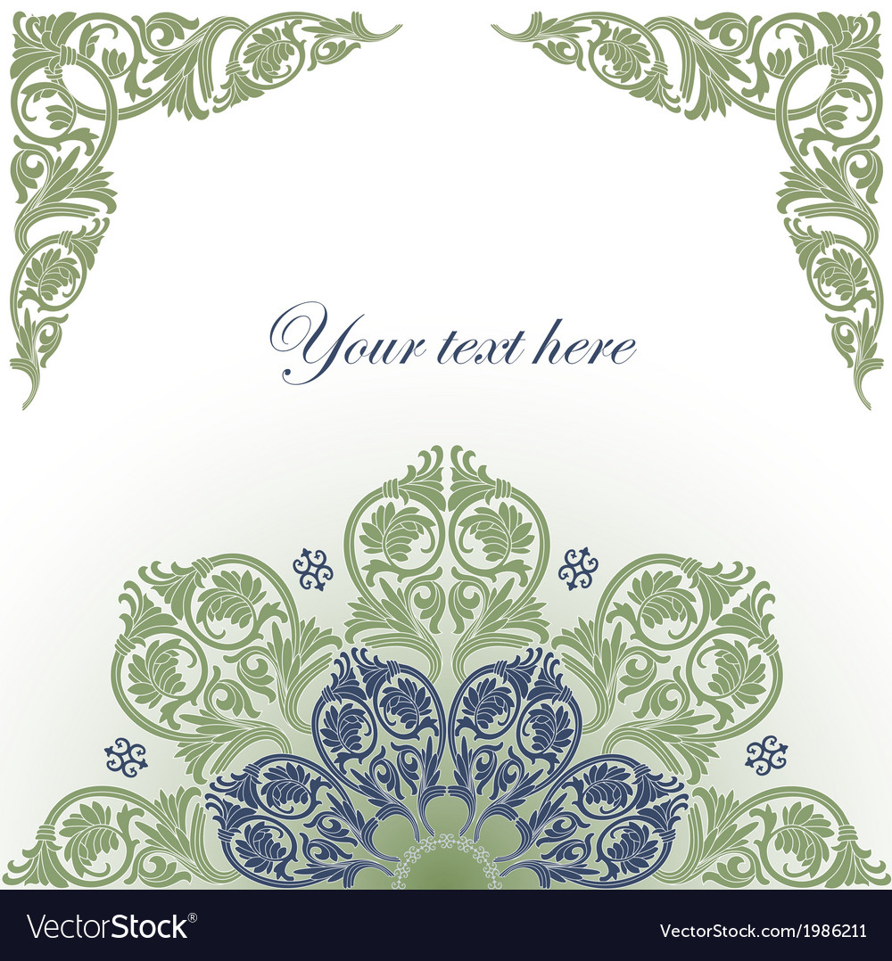 Frame with baroque ornaments vector | Price: 1 Credit (USD $1)
