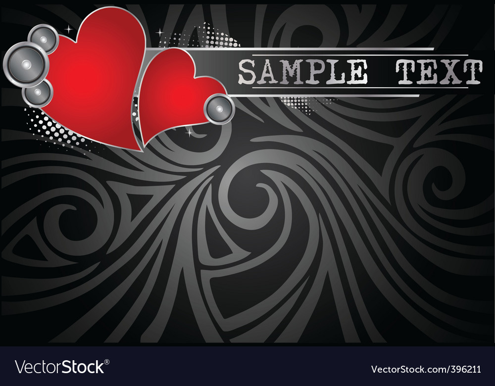 Music background with hearts vector | Price: 1 Credit (USD $1)