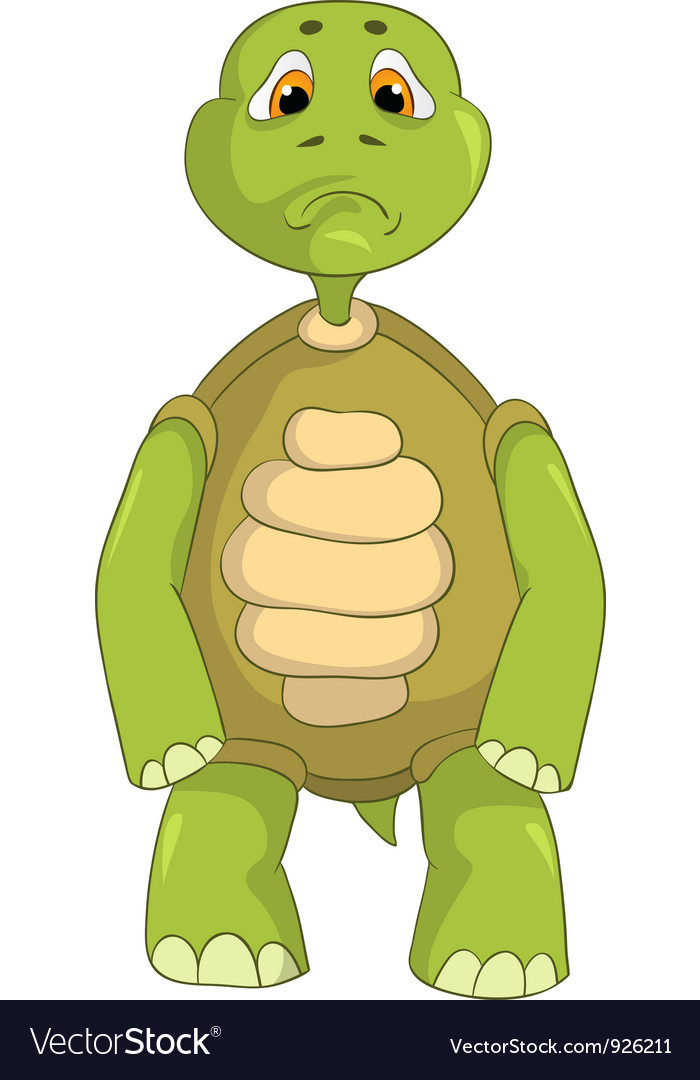 Sad turtle vector   Price: 3 Credit (USD $3)