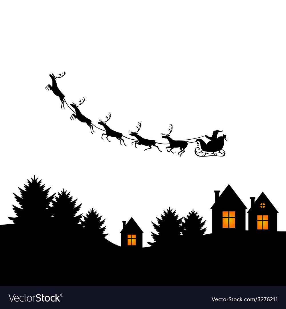 Santa outdoor vector | Price: 1 Credit (USD $1)