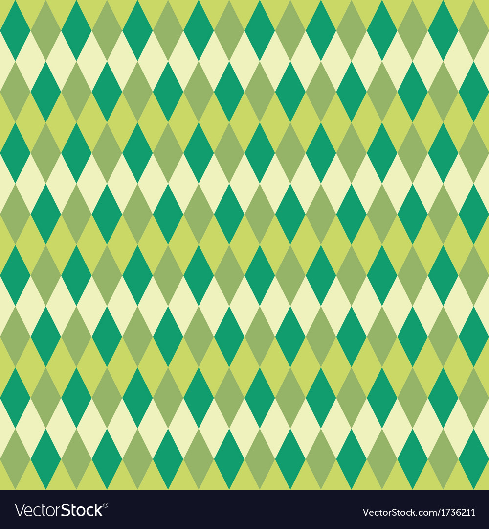 Seamless green abstract mosaic background vector | Price: 1 Credit (USD $1)