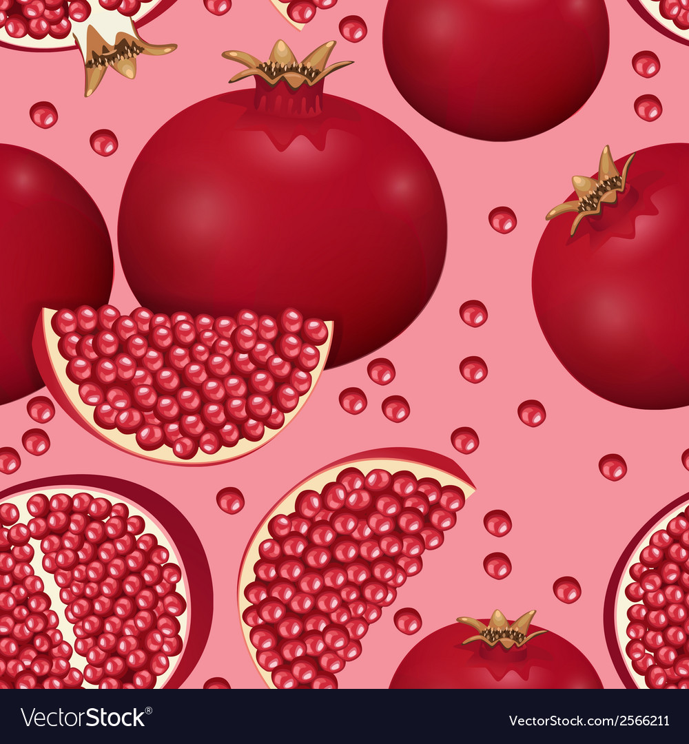 Seamless texture of pomegranate vector | Price: 1 Credit (USD $1)