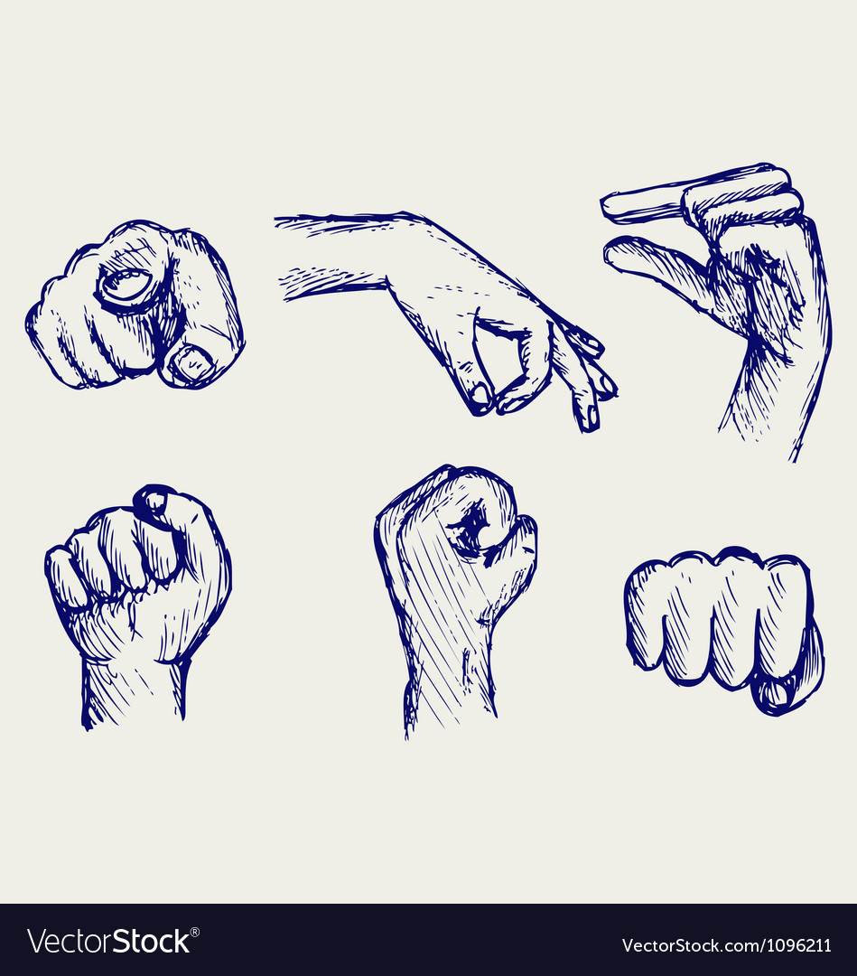 Set of many different hands vector   Price: 1 Credit (USD $1)