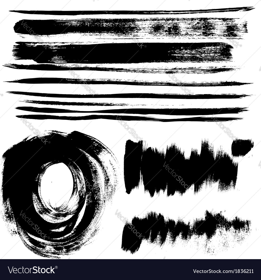 Strokes of black paint vector | Price: 1 Credit (USD $1)