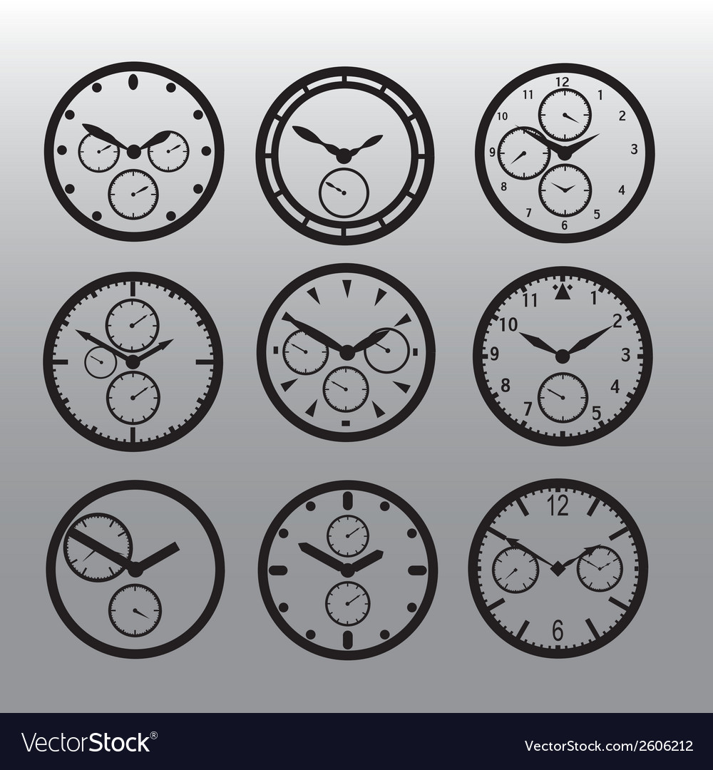 Chronograph watch dials eps10 vector   Price: 1 Credit (USD $1)