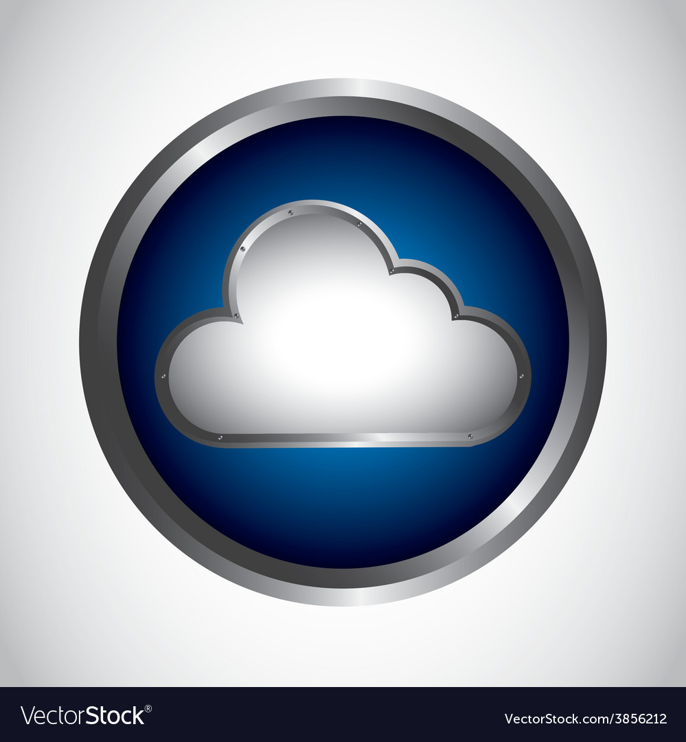 Cloud button vector | Price: 1 Credit (USD $1)