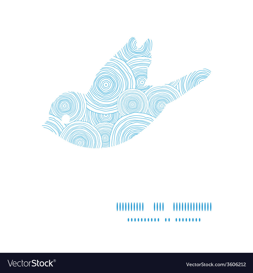 Doodle circle water texture bird silhouette vector | Price: 1 Credit (USD $1)