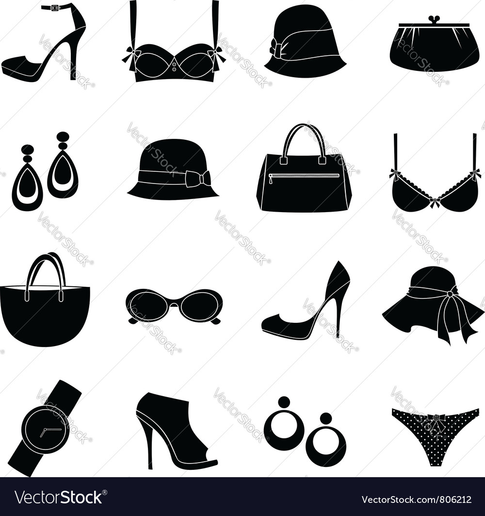 Elegant accessories vector | Price: 1 Credit (USD $1)