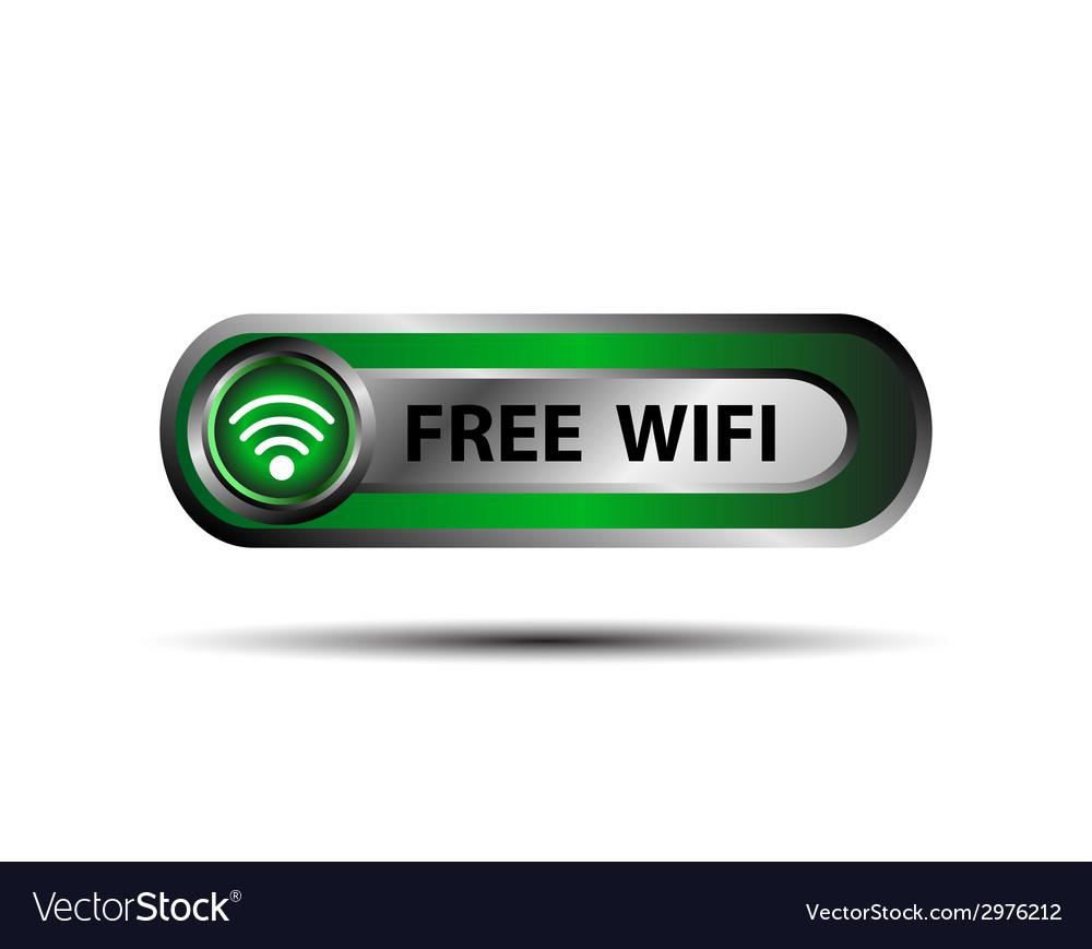 Free wifi wireless button vector | Price: 1 Credit (USD $1)