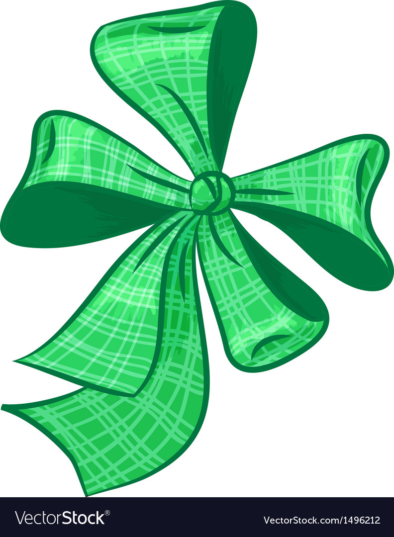 Green bow vector | Price: 1 Credit (USD $1)
