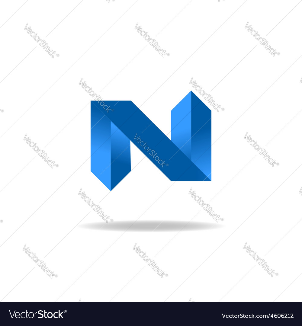 Letter n logo element website icon vector | Price: 1 Credit (USD $1)