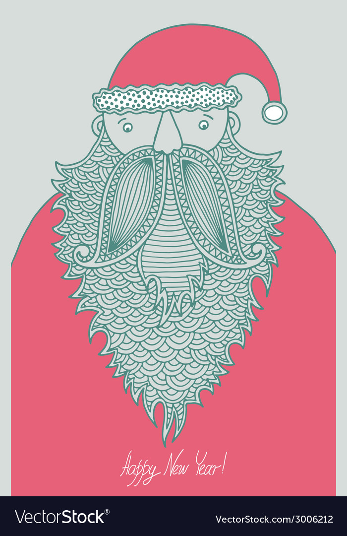 Original hipster santa claus modern graphic style vector | Price: 1 Credit (USD $1)