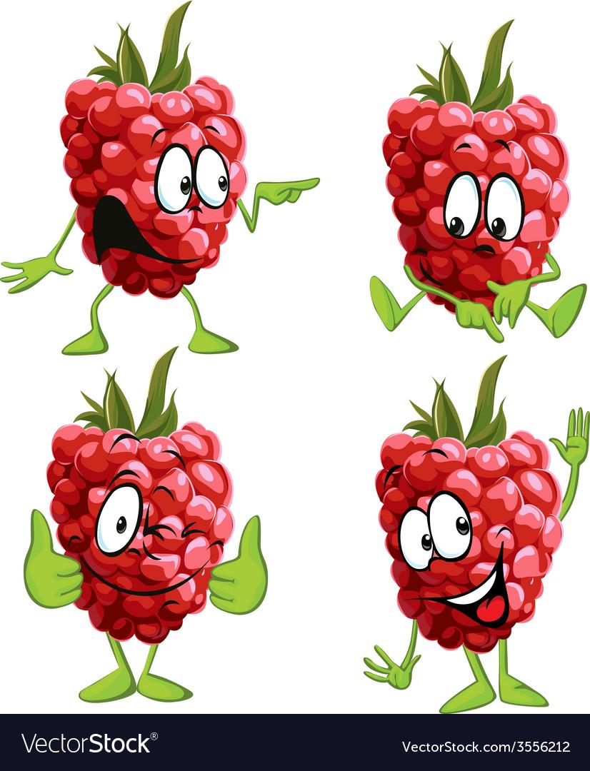 Raspberry cartoon vector | Price: 1 Credit (USD $1)