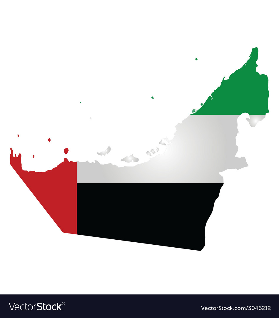 United arab emirates flag vector | Price: 1 Credit (USD $1)