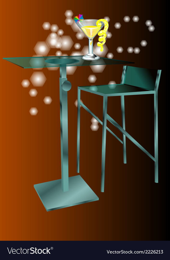 Cafe table with cafe table with cocktails vector | Price: 1 Credit (USD $1)
