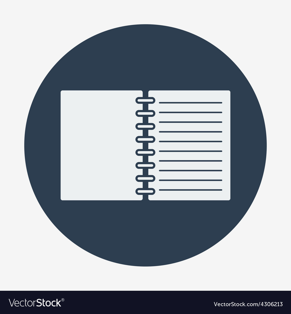 Flat style icon open notebook vector | Price: 1 Credit (USD $1)