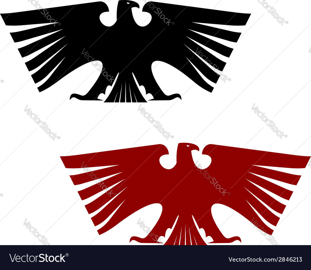 Imperial heraldic eagle with outspread wings vector | Price: 1 Credit (USD $1)