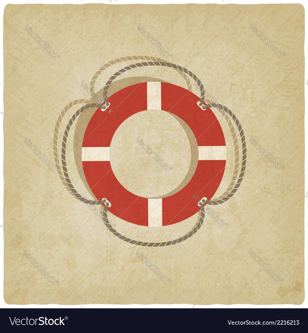 Lifebuoy symbol vector | Price: 1 Credit (USD $1)