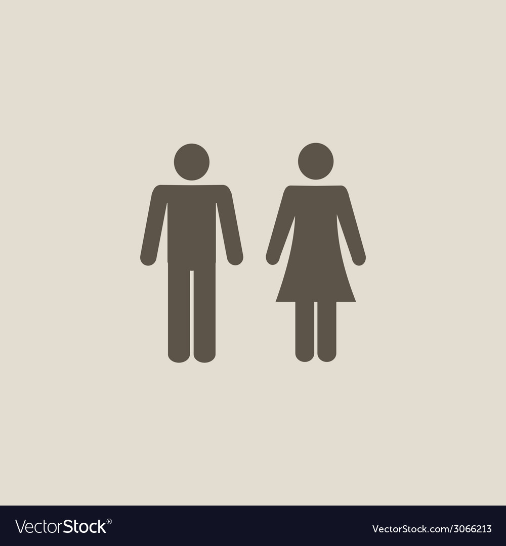 Man and woman icons vector | Price: 1 Credit (USD $1)