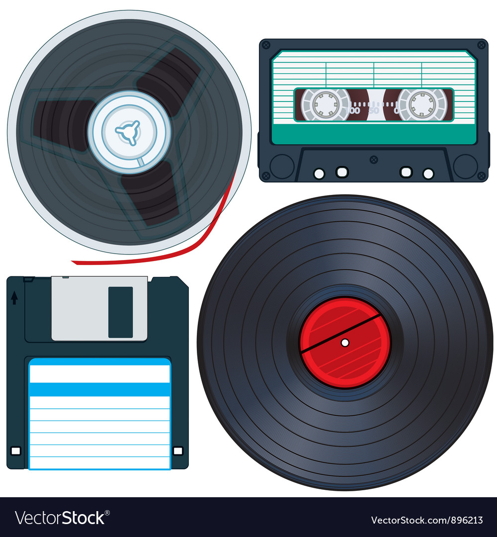 Old media vector | Price: 1 Credit (USD $1)