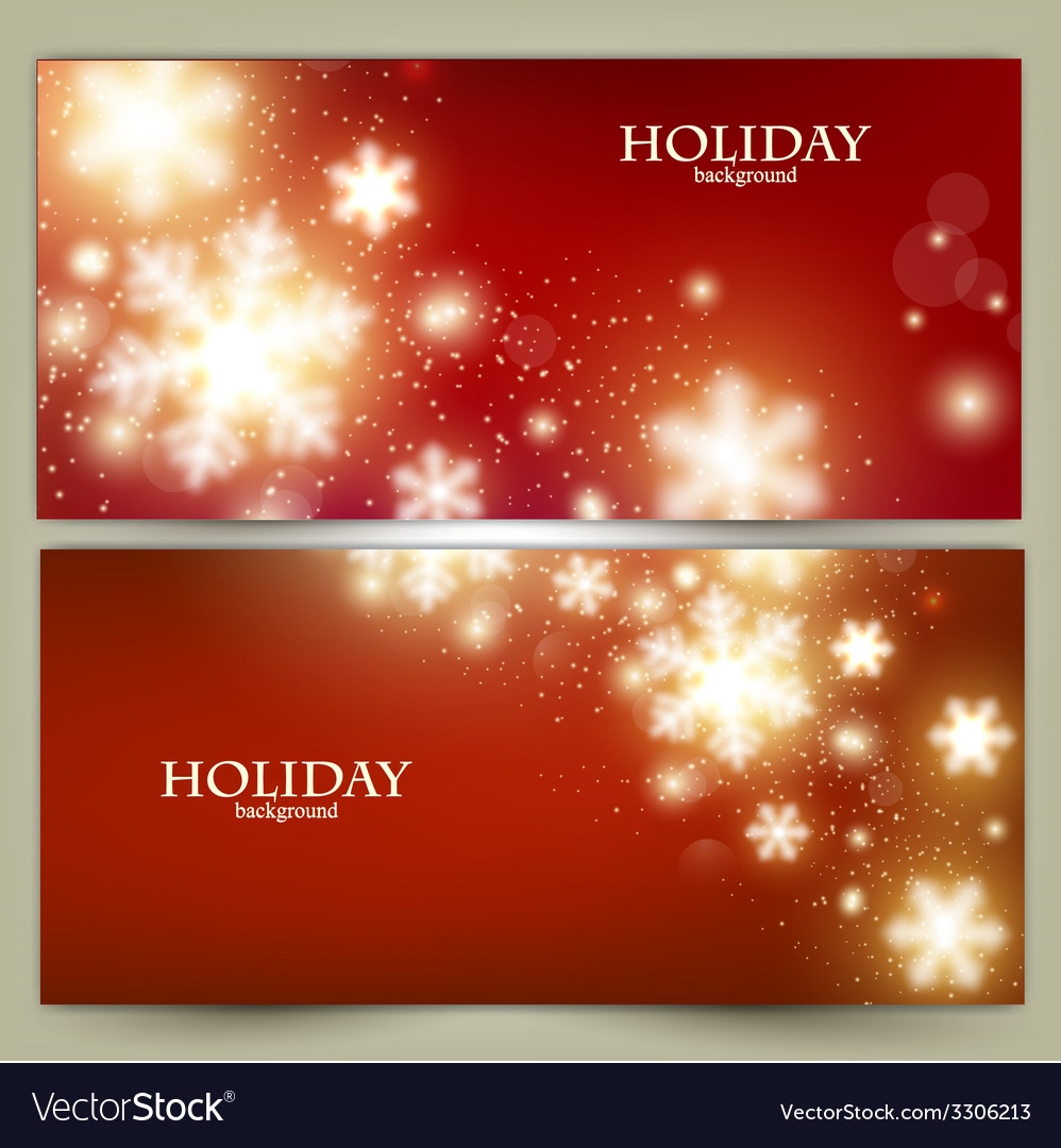 Set of elegant red christmas banners with vector | Price: 1 Credit (USD $1)