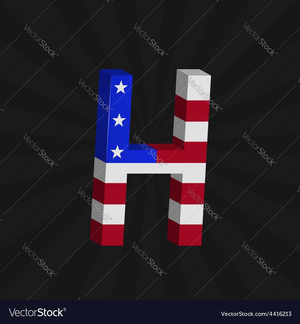 Usa flag alphabet vector | Price: 1 Credit (USD $1)