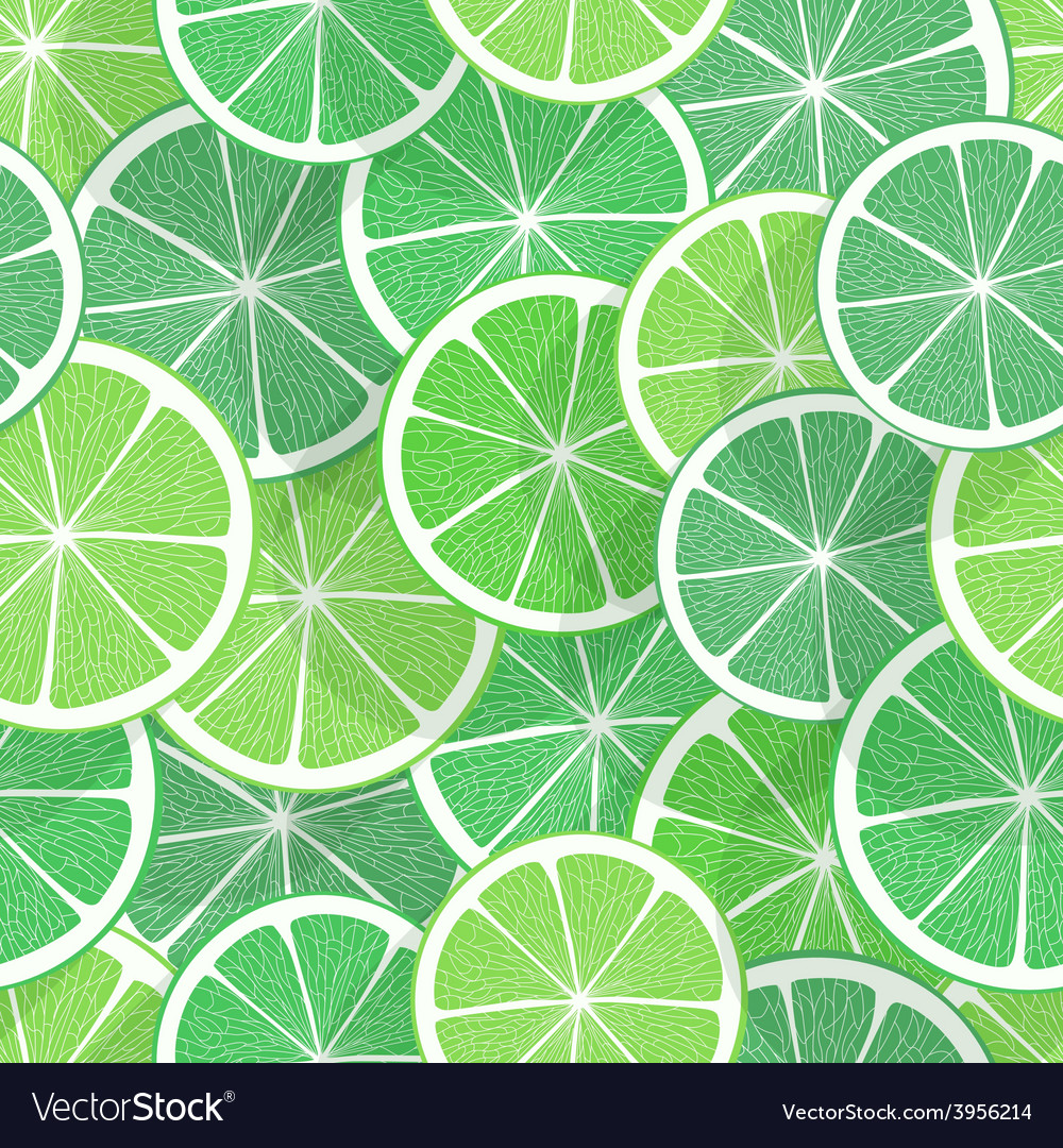 Citrus seamless background lime vector | Price: 1 Credit (USD $1)