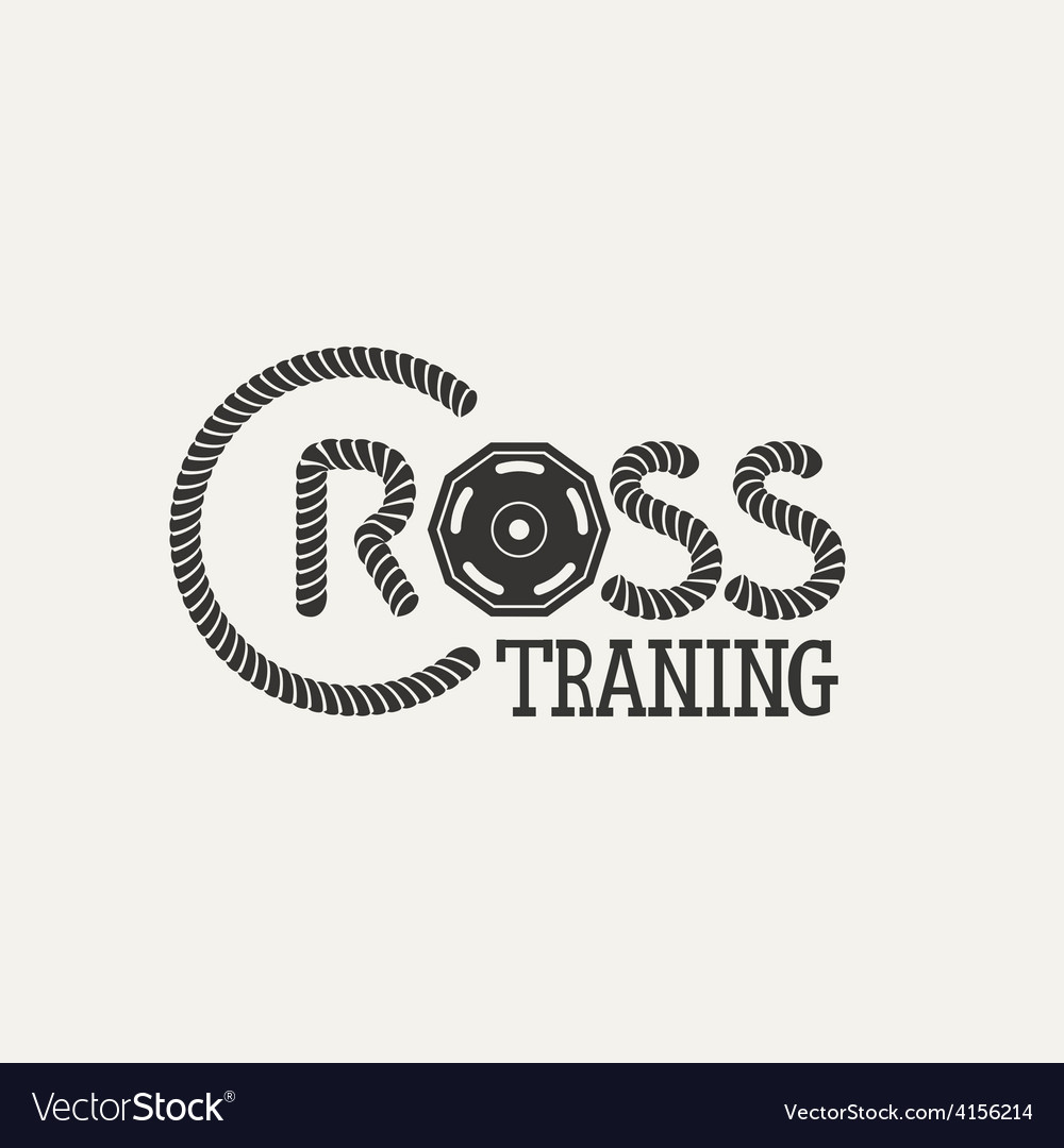 Cross training logo vector | Price: 1 Credit (USD $1)