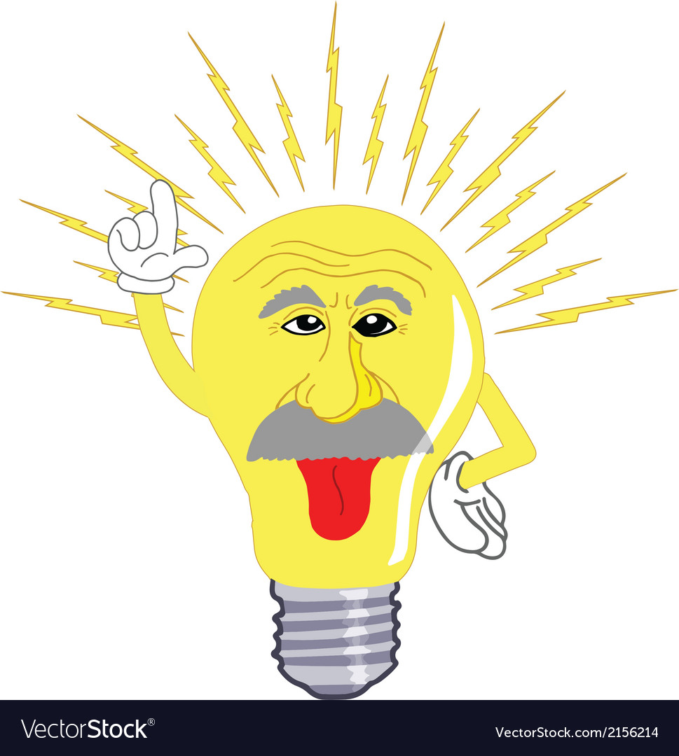 Einstein light bulb vector | Price: 1 Credit (USD $1)