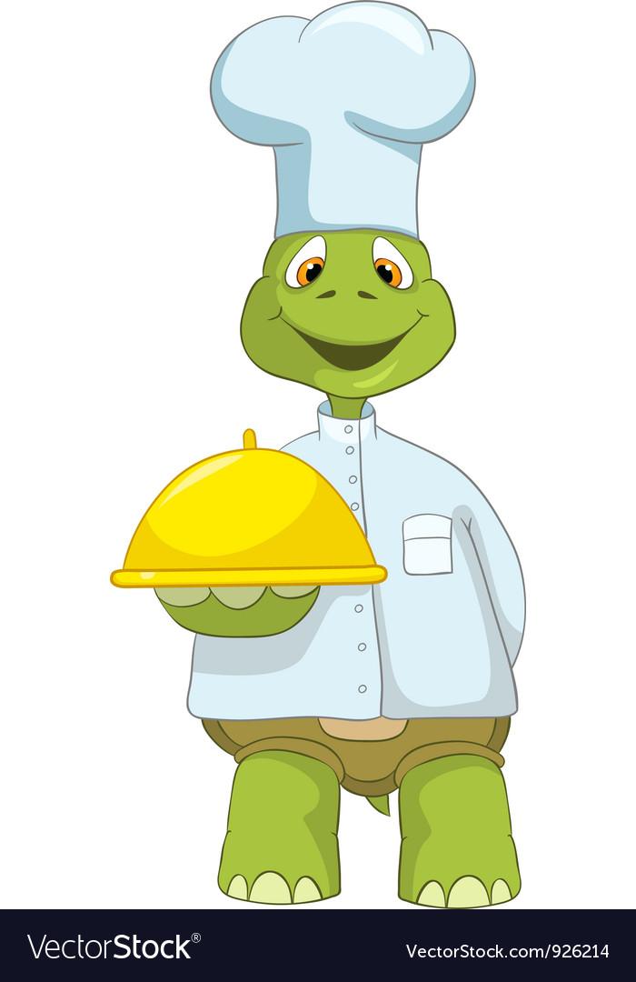 Funny turtle chef vector | Price: 3 Credit (USD $3)