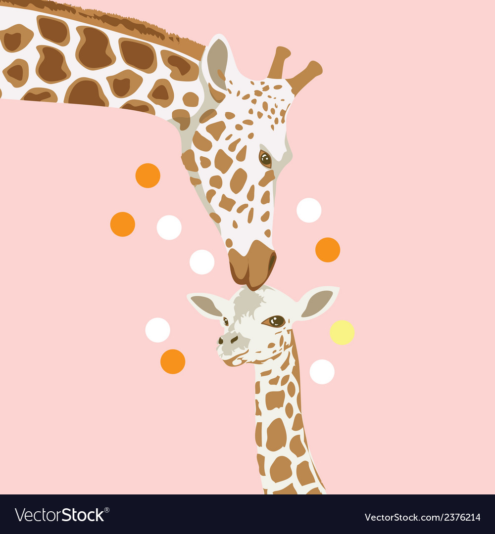 Giraffe and baby vector | Price: 1 Credit (USD $1)