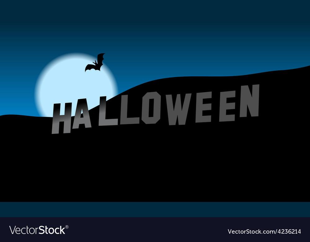 Halloween hills vector | Price: 3 Credit (USD $3)