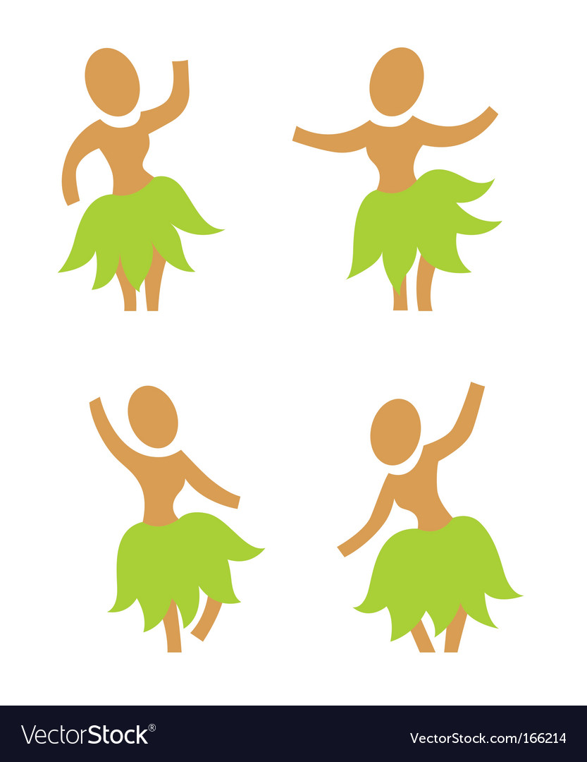 Hula dancers vector | Price: 1 Credit (USD $1)