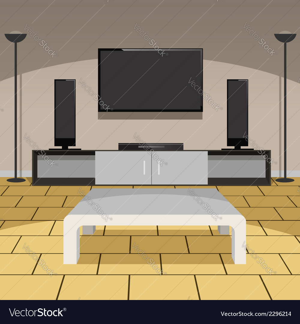 Modern living room vector | Price: 1 Credit (USD $1)