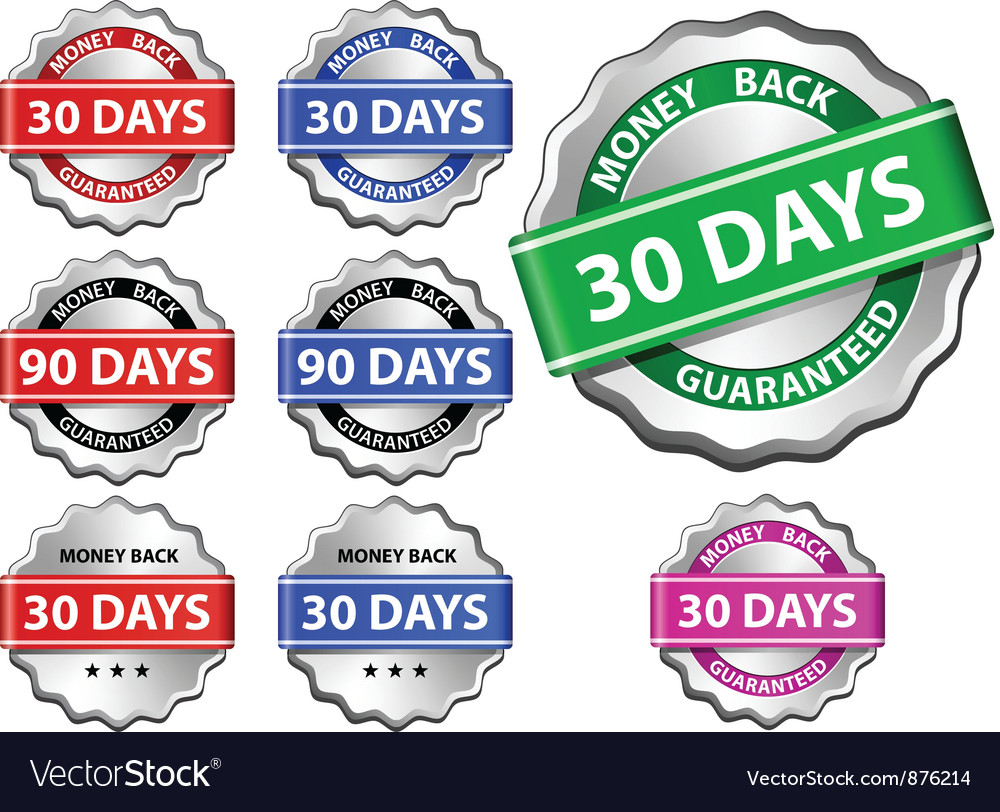 Money back guarantee label vector | Price: 1 Credit (USD $1)