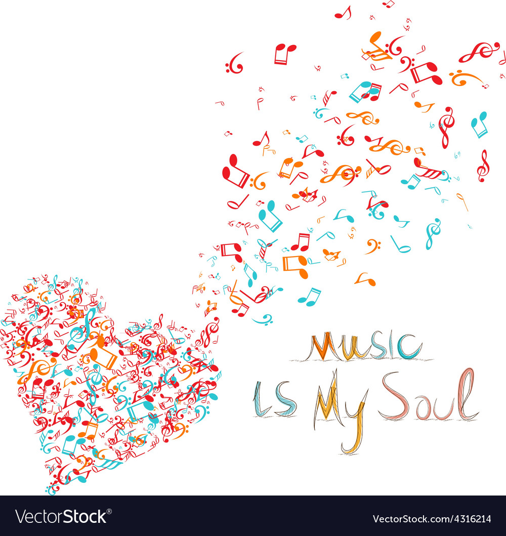 Music is my soul background vector | Price: 1 Credit (USD $1)