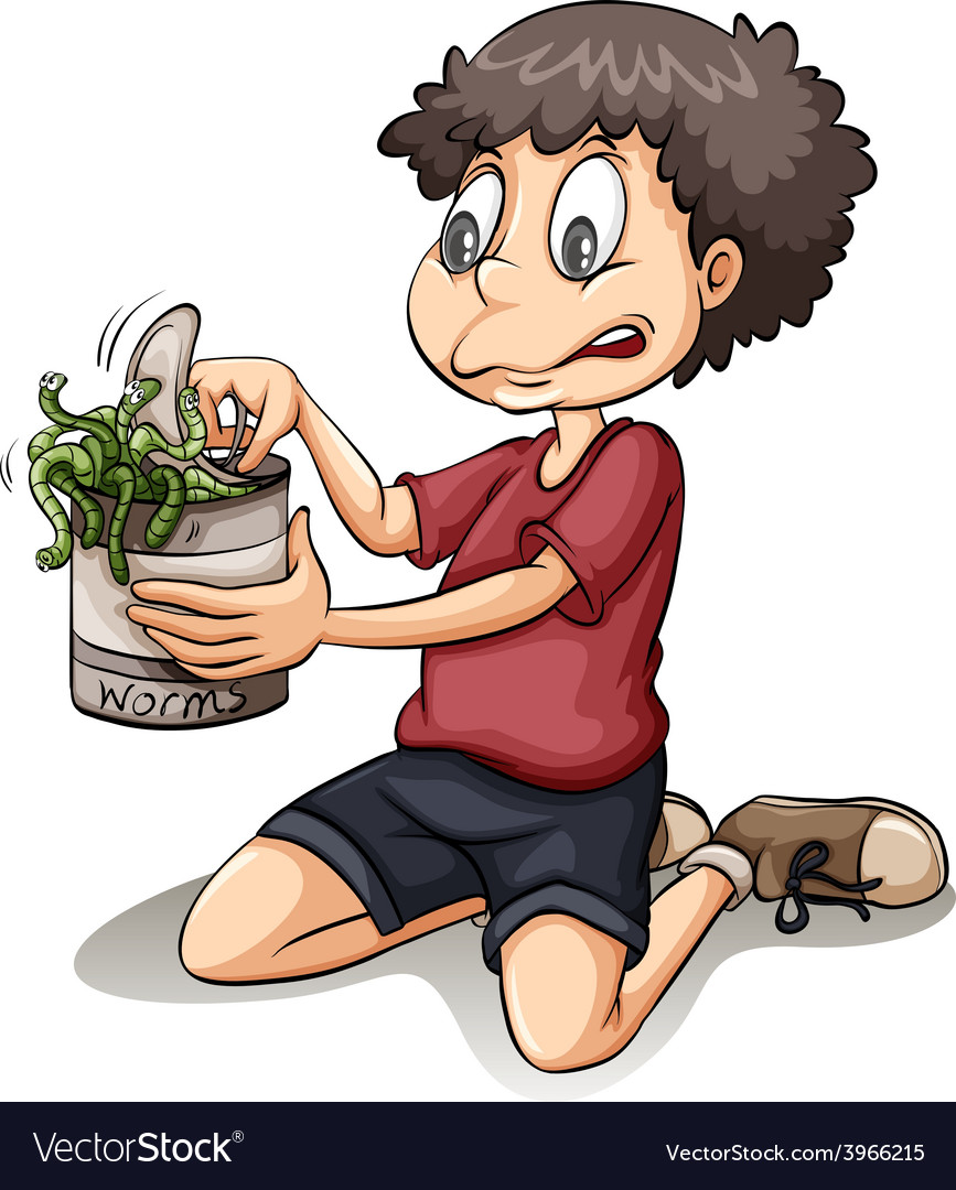 A boy holding a can vector   Price: 1 Credit (USD $1)