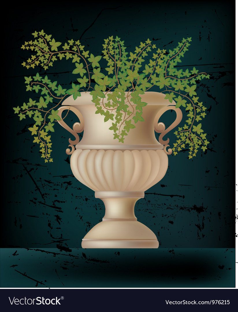 Antique amphora on black vector | Price: 1 Credit (USD $1)