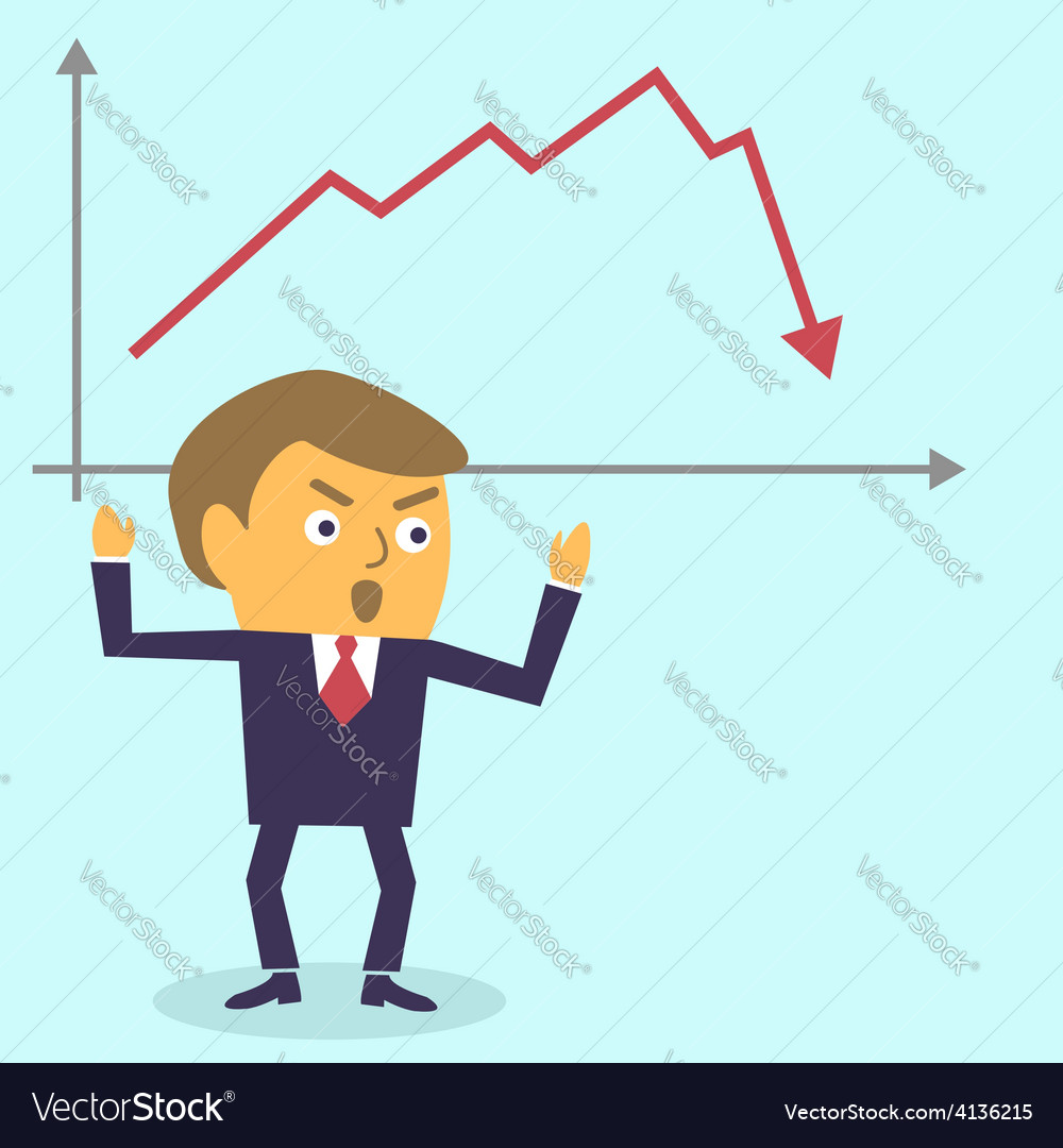 Businessman in panic vector | Price: 1 Credit (USD $1)