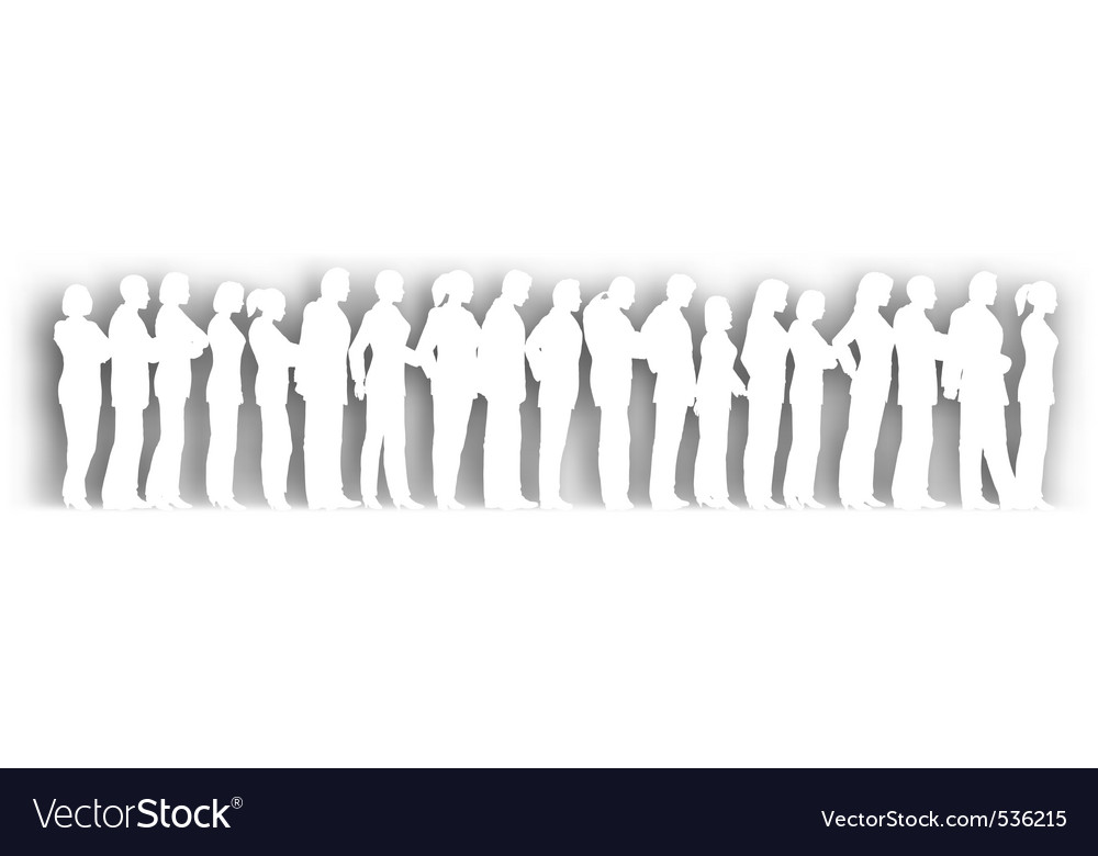 Cutout queue vector | Price: 1 Credit (USD $1)
