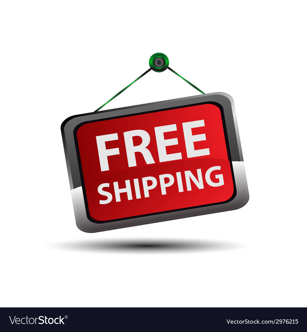 Free shipping icon button vector | Price: 1 Credit (USD $1)