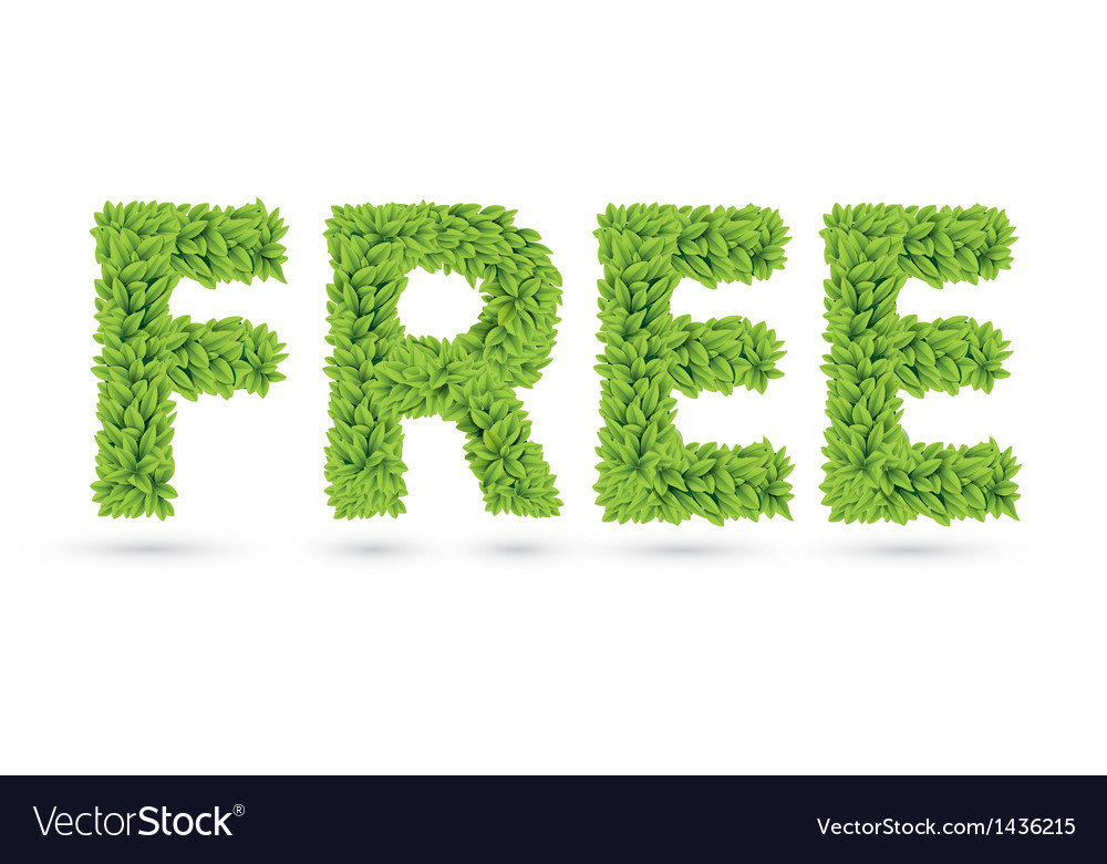 Free text of green leaves vector | Price: 1 Credit (USD $1)
